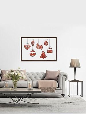 The Holiday Aisle 'Christmas Baubles II' Framed Print; 24'' W x 36'' H x 1.5'' D