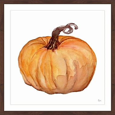The Holiday Aisle 'Pumpkin King' Framed Painting Print; 18'' x 18''