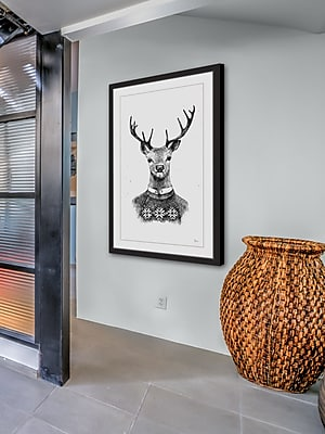 The Holiday Aisle 'Mrs. Deer' Framed Print; 16'' W x 24'' H x 1.5'' D