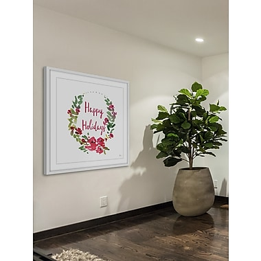The Holiday Aisle 'Happy Holidays II' Framed Painting Print; 18'' H x 18'' W
