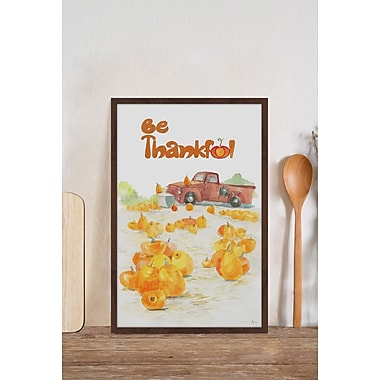 The Holiday Aisle 'Pumpkin Field' Framed Print; 20'' W x 30'' H x 1.5''D