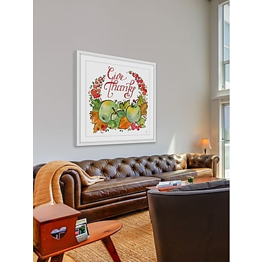The Holiday Aisle 'Warm Thanks' Framed Painting Print; 48'' H x 48'' W