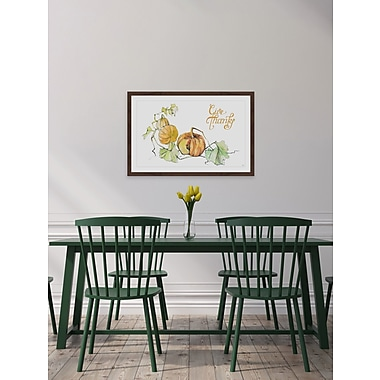 The Holiday Aisle 'Give Thanks III' Framed Painting Print; 24'' W x 36'' H x 1.5'' D