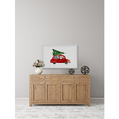 The Holiday Aisle 'Santa Is Coming' Framed Painting Print; 18'' W x 12'' H x 1.5'' D