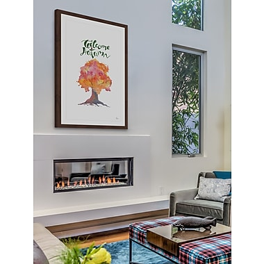 The Holiday Aisle 'Welcome Autumn' Framed Painting Print; 18'' H x 12'' W
