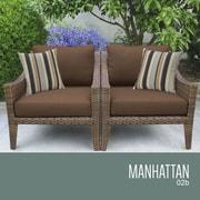 TK Classics Manhattan Outdoor Wicker Chair w/ Cushions; Cocoa