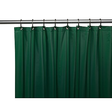Winston Porter Glenmoor Royal Bath 3 Gauge Vinyl Shower Curtain Liner; Evergreen