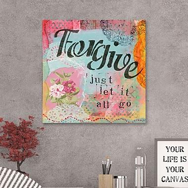 Winston Porter 'Forgive' Textual Art on Wrapped Canvas; 12'' H x 12'' W