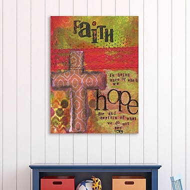 Winston Porter 'Faith and Hope for' Textual Art on Wrapped Canvas; 40'' H x 30'' W