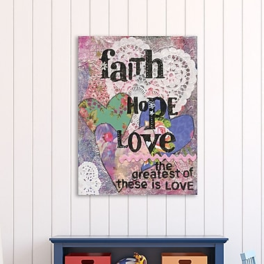 Winston Porter 'Faith, Hope, Love' Textual Art on Wrapped Canvas; 40'' H x 30'' W