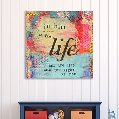 Winston Porter 'My Faith in Him Was Life' Textual Art on Wrapped Canvas; 30'' H x 30'' W