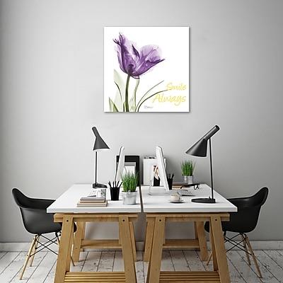 Winston Porter 'Smile Always Tulip' Graphic Art Print on Wrapped Canvas; 36'' H x 36'' W