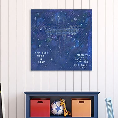 Winston Porter 'Why Wish upon a Star' Textual Art on Wrapped Canvas; 12'' H x 12'' W