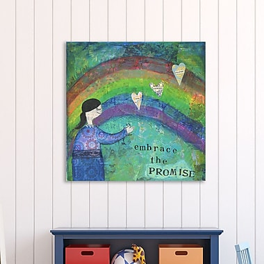 Winston Porter 'Embrace the Promise 1' Graphic Art Print on Wrapped Canvas; 30'' H x 30'' W
