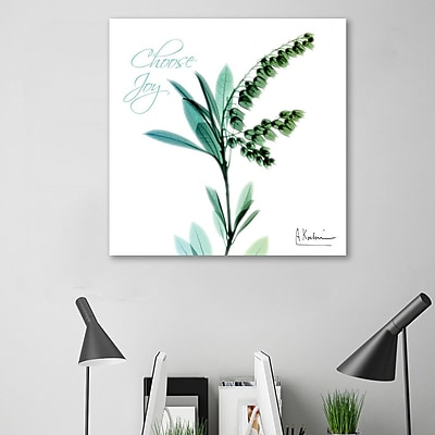 Winston Porter 'Choose Joy_Lily of the Valley_H12' Graphic Art Print on Wrapped Canvas