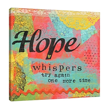 Winston Porter 'Hope Whispers' Textual Art on Wrapped Canvas; 24'' H x 24'' W