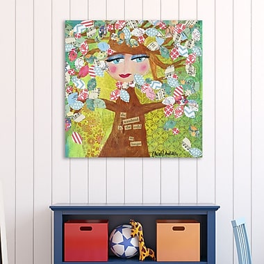 Winston Porter 'Spring Tree' Graphic Art Print on Wrapped Canvas; 36'' H x 36'' W
