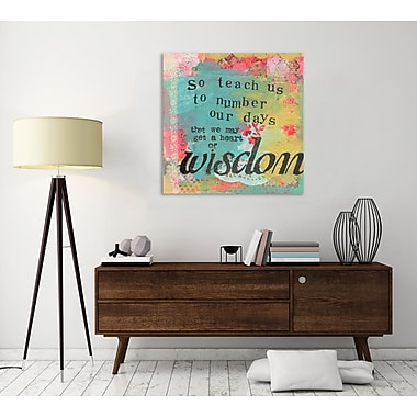 Winston Porter 'So Teach Us' Textual Art on Wrapped Canvas; 48'' H x 48'' W