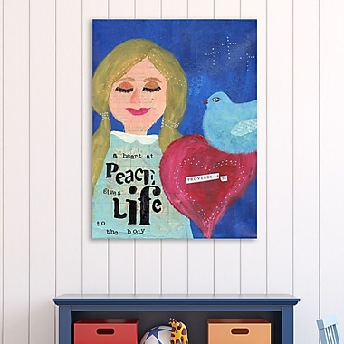 Winston Porter 'A Heart at Peace 2' Graphic Art Print on Wrapped Canvas; 32'' H x 24'' W
