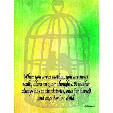 Ebern Designs 'When You Are a Mother' Textual Art on Wrapped Canvas; 32'' H x 24'' W