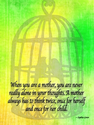 Ebern Designs 'When You Are a Mother' Textual Art on Wrapped Canvas; 16'' H x 12'' W