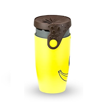Neolid Travel Mug, Twizz Smile, Yellow/Black