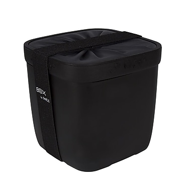 Neolid Box Karl Food Container with Twist Lid, Black (B-KARL-BLK)
