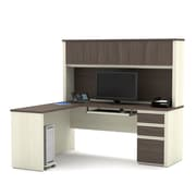 BESTAR Prestige + L-shaped Workstation including one pedestal, White Chocolate/Antigua (99872-52)