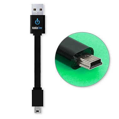 CableLinx™ Mini to USB Charge Cable, Black
