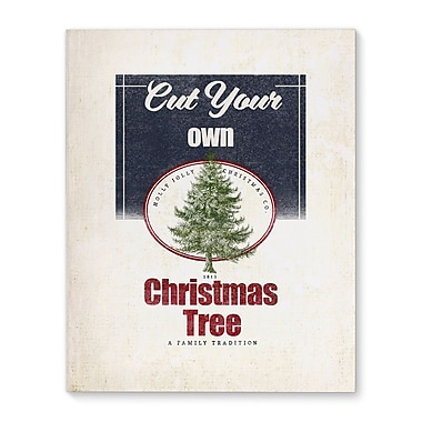 Gracie Oaks 'Cut Your Own Tree' Rectangle Frame Graphic Art Print on Canvas