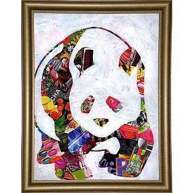 East Urban Home 'Panda' Graphic Art Print; Wrapped Canvas Floater Framed