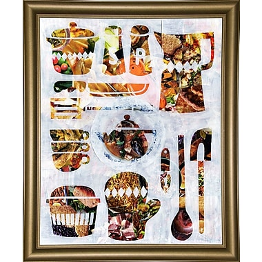East Urban Home 'Kitchen Collection' Graphic Art Print; Bistro Gold Framed