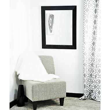 Everly Quinn Rossa Glossy Black Bathroom Mirror; 55.5'' H x 32.5'' W x 1.25'' D