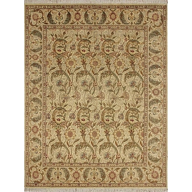 Astoria Grand Cleasby Traditional Hand Knotted Wool Ivory Area Rug