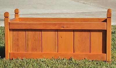 Best Redwood Wood Planter Box; 12'' H x 24'' W x 12'' D