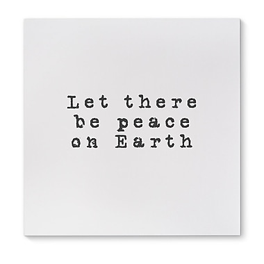 Ivy Bronx 'Let There Be Peace on Earth' Graphic Art Print on Canvas