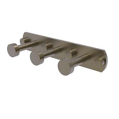 Allied Brass Fresno 3 Position Wall Mounted Hook Rack; Antique Brass