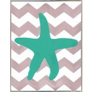 Highland Dunes 'Starfish' Print; Metal Silver Framed