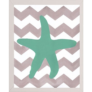 Highland Dunes 'Starfish' Print; White Medium Framed