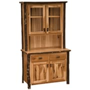 Fireside Lodge Hickory China Cabinet; Rustic Maple