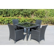 Ohana Depot Ohana 5 Piece Dining Set; Dark Gray