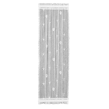 Highland Dunes Sagrario Sidelight Geometric Sheer Rod Pocket Single Curtain Panel; 15''W x 72''L