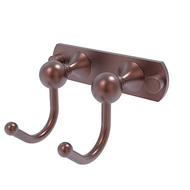 Allied Brass Shadwell 2 Position Wall Mounted Robe Hook; Antique Copper