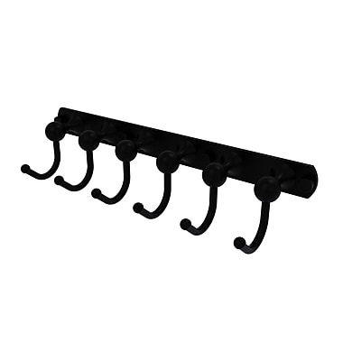 Allied Brass Shadwell 6 Position Wall Mounted Hook Rack; Matte Black