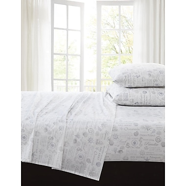 Highland Dunes Brence 200 Thread Count 100pct Cotton Sheet Set; King