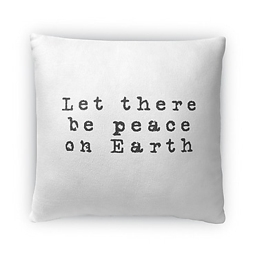 Ivy Bronx Estey Let There Be Peace on Earth Outdoor Throw Pillow; 18'' x 18''