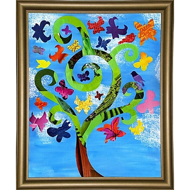 August Grove 'Butterfly Tree' Graphic Art Print; Wrapped Canvas