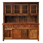 Fireside Lodge Hickory China Cabinet; Antique Oak