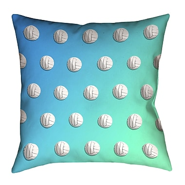 Latitude Run Dragan Blue & Green Ombre Volleyball Pillow; 16'' x 16''