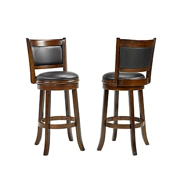 Red Barrel Studio Karasel 24'' Swivel Bar Stool (Set of 2)